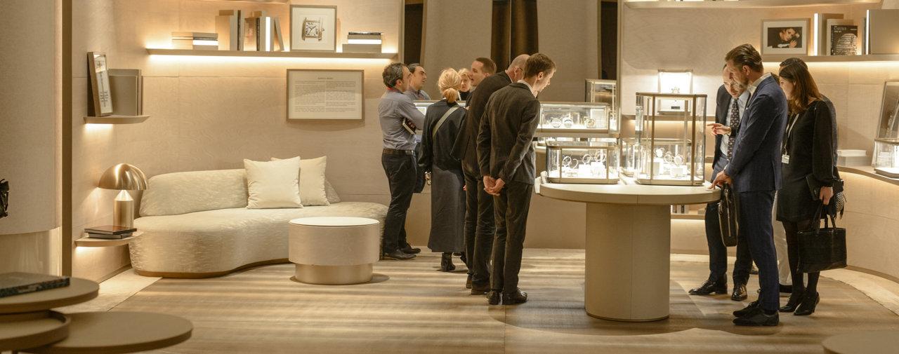 Les marques les plus prestigieuses s'exposent au Salon international de la haute horlogerie. Le 15 janvier 2017, à Genève.