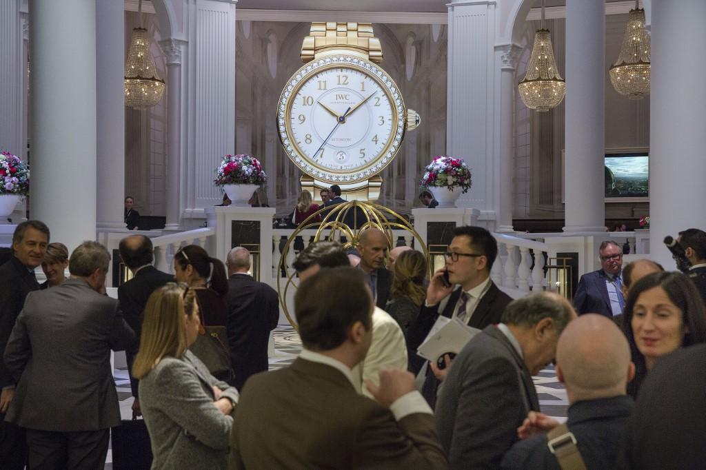 Journée d'ouverture du 27e Salon international de la haute horlogerie, à Genève, le 16 janvier 2017.