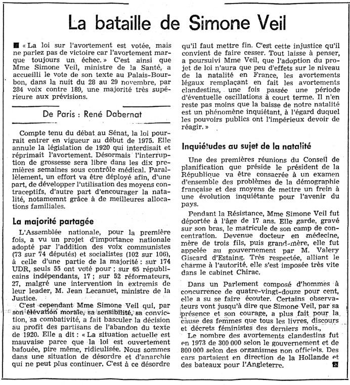 Journal de Genève, 1974