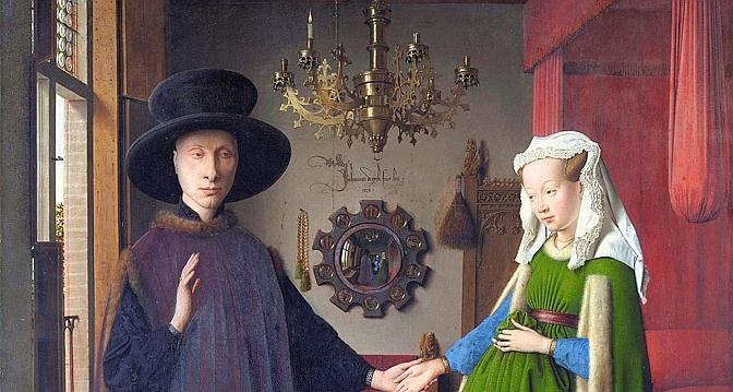 Jan van eyck en son miroir le temps for Autoportrait miroir
