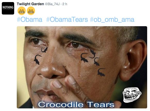 """Résultat de recherche d'images pour """"obama pleure crocodile"""""""