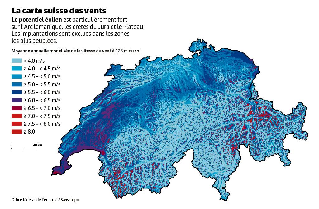 Deux projets éoliens des SIG repêchés dans le canton de Vaud   Le