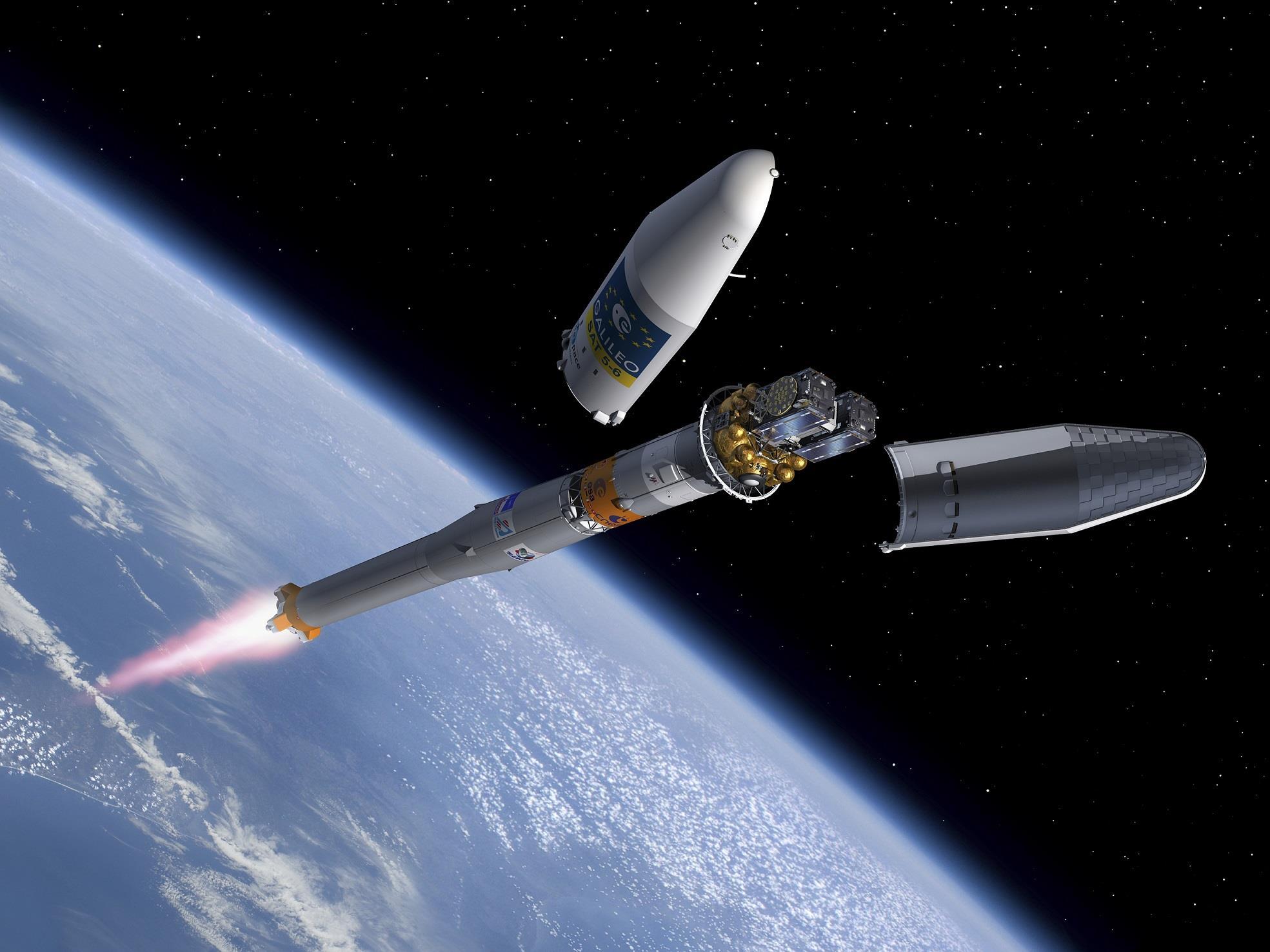 Ariane 5 lance quatre nouveaux satellites de Galileo jeudi