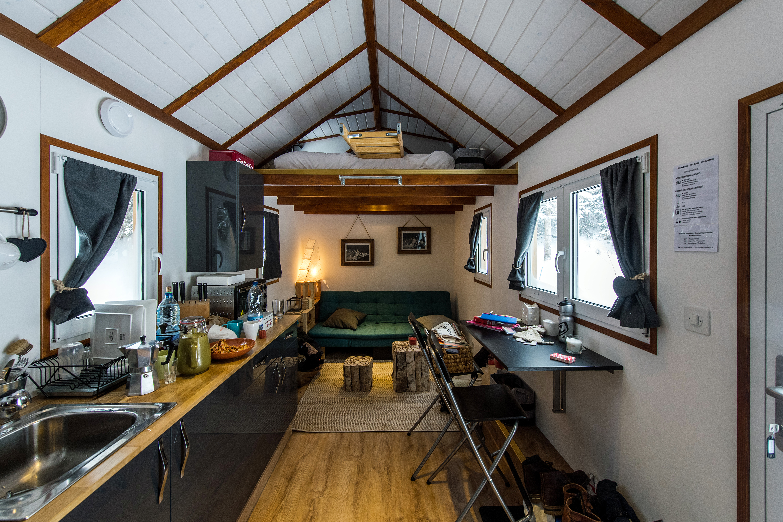 Salle De Bain Tiny House ~ on a test les micro chalets le temps