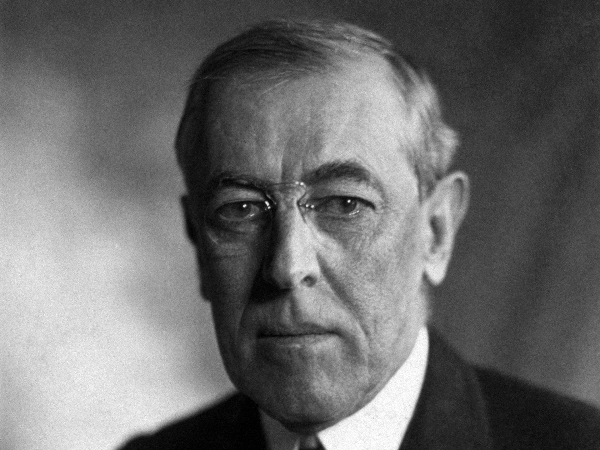 Le président américain Woodrow Wilson en 1919.