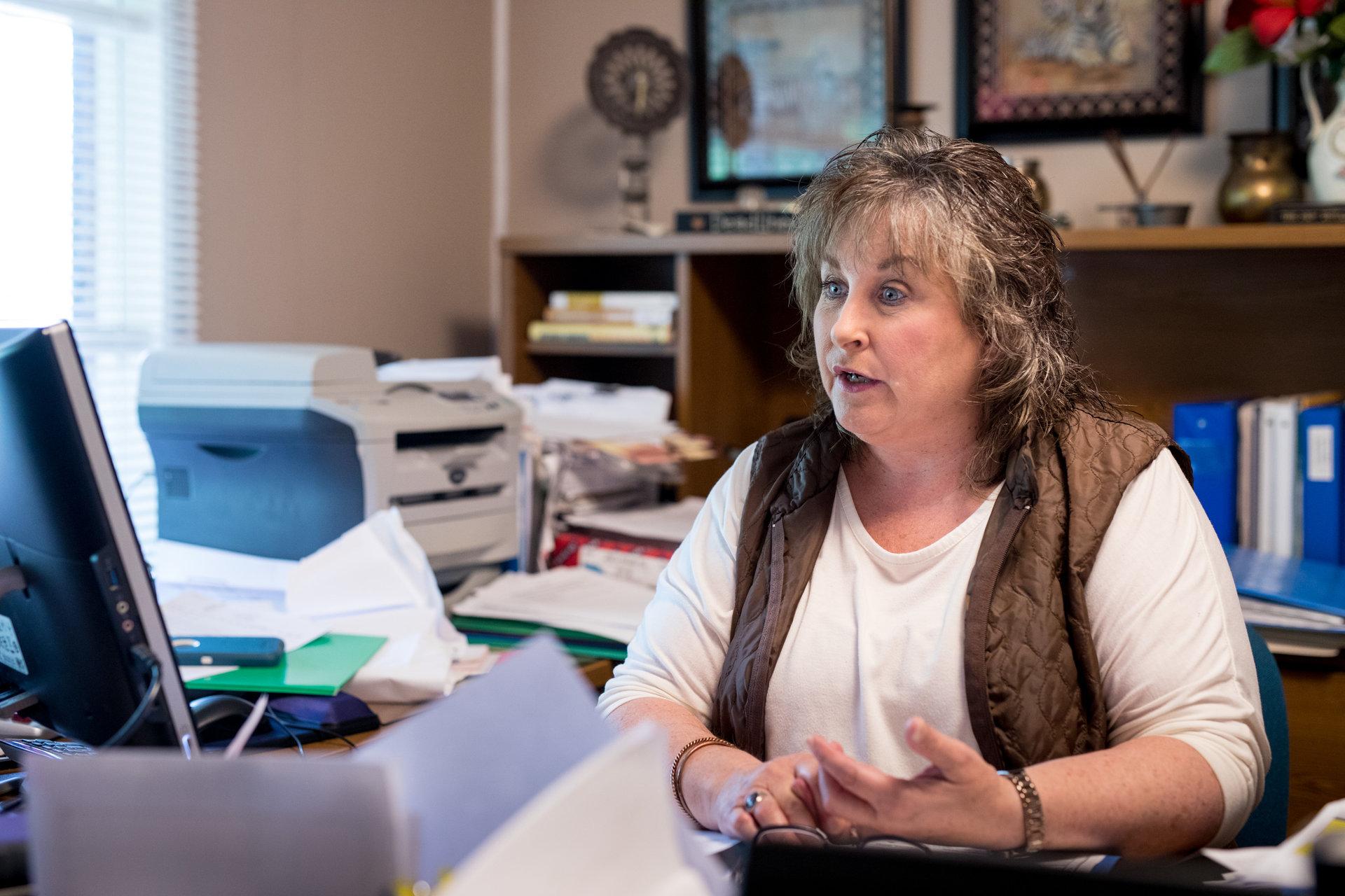 Carla Mays, responsable du refuge pour sans-abri toxicomanes.
