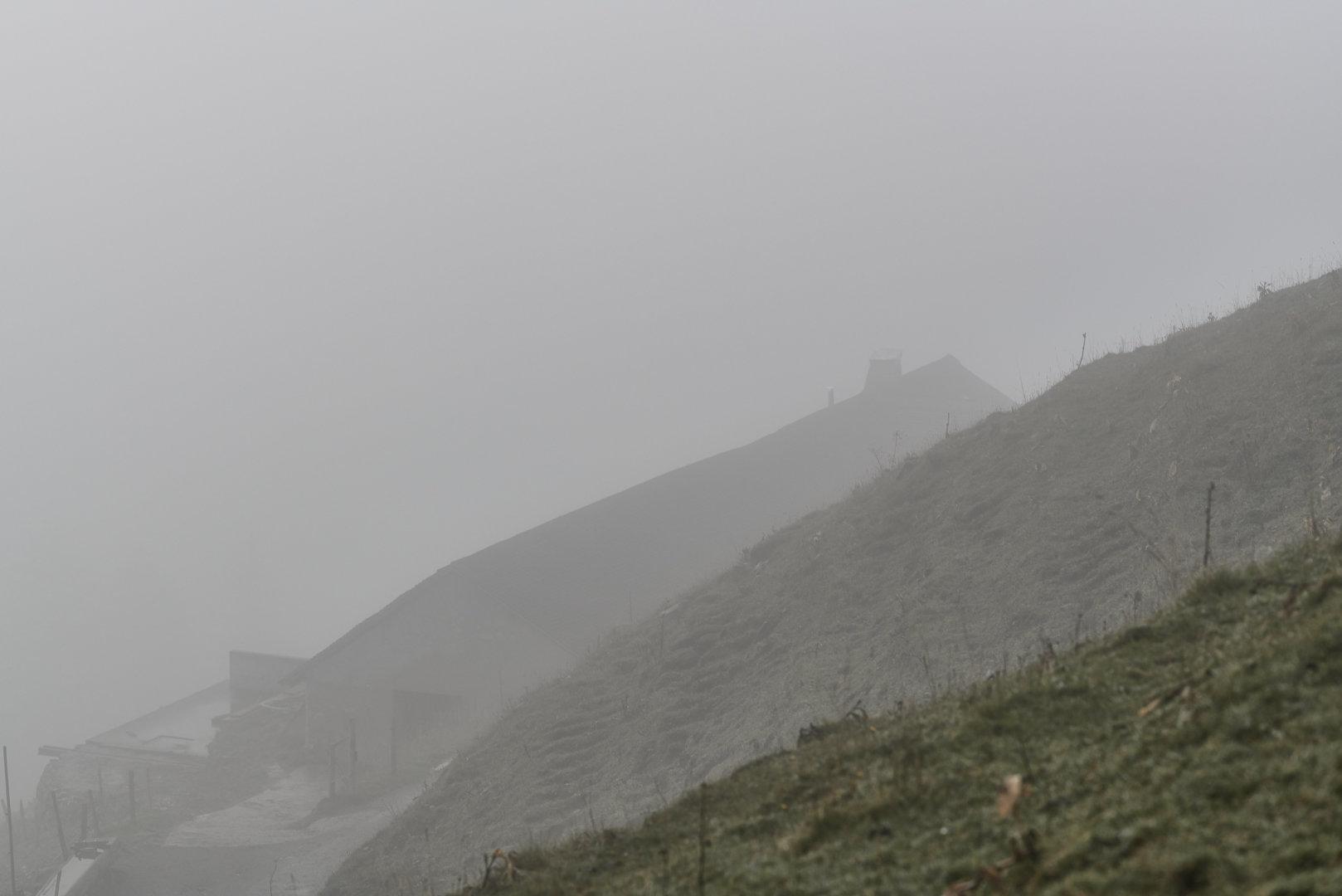 Brume de montagne, silence immuable, un aboiement au loin et le murmure des hommes affairés dans l'étable.