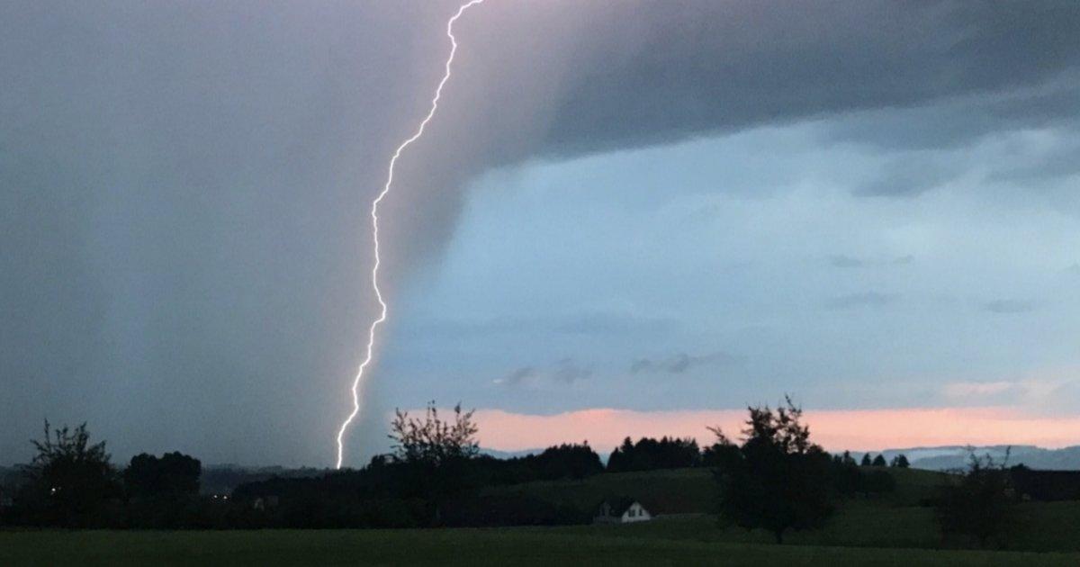 De nouveaux forts orages s'abattent sur la Suisse